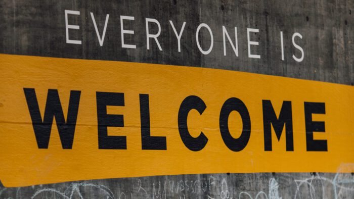Everyone is welcome sign